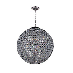 Globe 40 inch 26 Light Chandelier with Chrome Finish