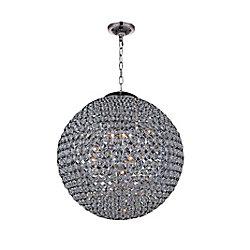 40 pouce Globe 26 Lumière Lustre avec Fini chromé