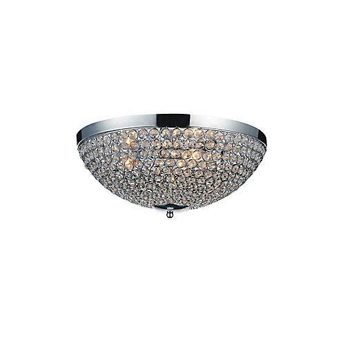 Globe 12 inch 3 Light Flush Mount with Chrome Finish