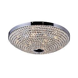 24 pouce Globe 9 Lumière Plafonnier avec Fini chromé