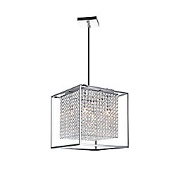 Cube 14 inch 5 Light Mini Pendant with Chrome Finish