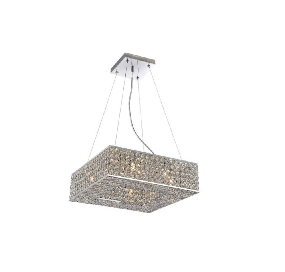 Dannie 14 inch 8 Light Mini Pendant with Chrome Finish