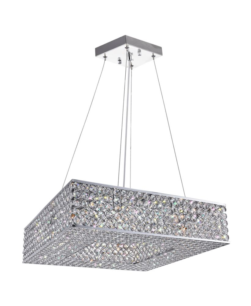 Dannie 17.5 inch 8 Light Chandelier with Chrome Finish