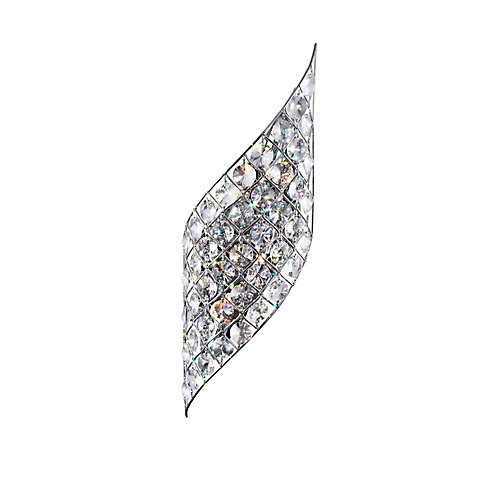 Chique 7 inch 4 Light Wall Sconce with Chrome Finish