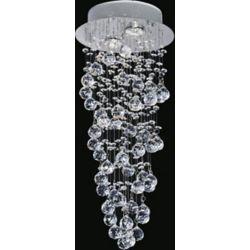 CWI Lighting 10 pouce Double Spiral 2 Lumière Plafonnier avec Fini chromé