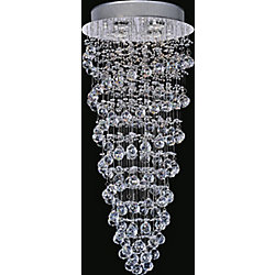 Double Spiral 14 inch 4 Light Flush Mount with Chrome Finish