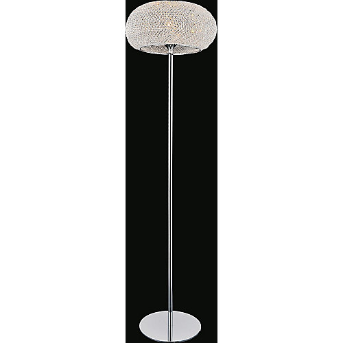 Tiffany 16 inch 1 Light Floor Lamp with Chrome Finish