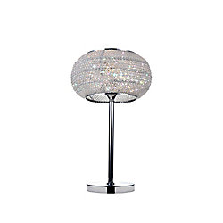 Tiffany 12 inch 1 Light Table Lamp with Chrome Finish