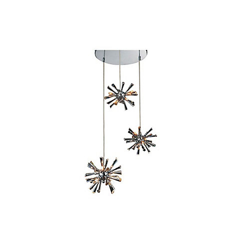 Flair 15 inch 12 Light Chandelier with Chrome Finish