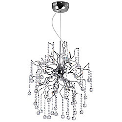 Cherry Blossom 28 inch 20 Light Chandelier with Chrome Finish