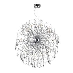 CWI Lighting Cherry Blossom 47 inch 48 Light Chandelier with Chrome Finish