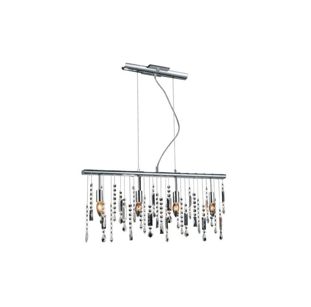 CWI Lighting Janine 30 inch 4 Light Chandelier with Chrome Finish