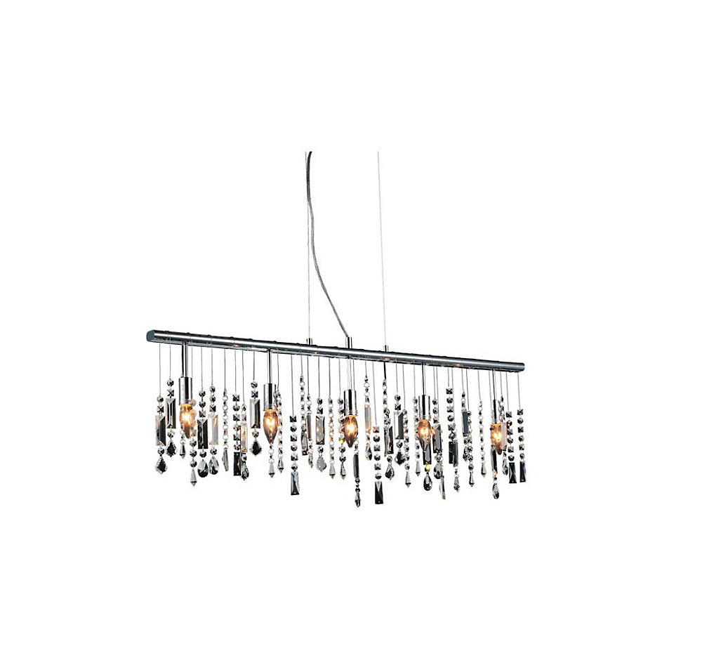 cwi lighting janine 38 inch 5 light chandelier with chrome finish