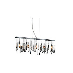 Janine 38 inch 5 Light Chandelier with Chrome Finish