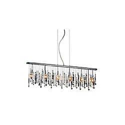 Janine 46 inch 6 Light Chandelier with Chrome Finish