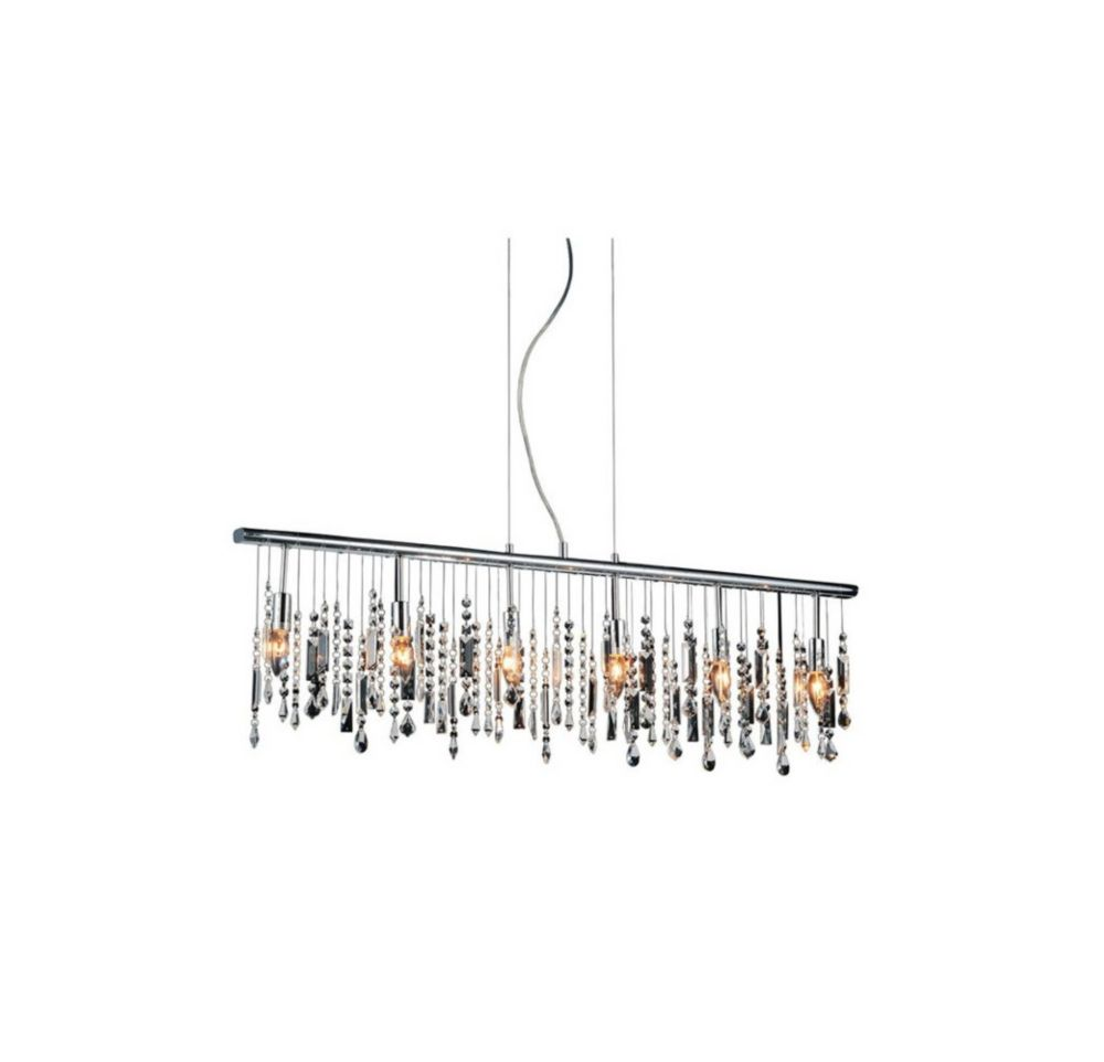 CWI Lighting Janine 46 inch 6 Light Chandelier with Chrome Finish