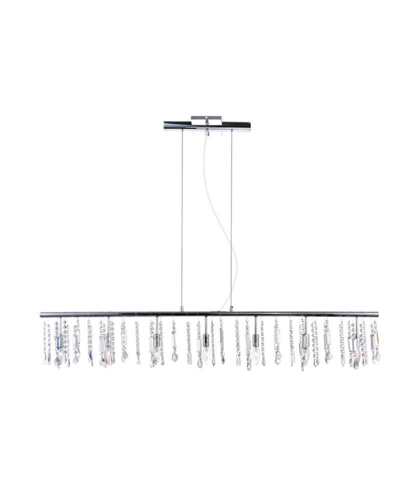 CWI Lighting Janine 54-inch 7-Light Chandelier with Chrome Finish