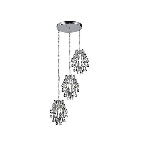 Charismatic 24 inch 6 Light Chandelier with Chrome Finish