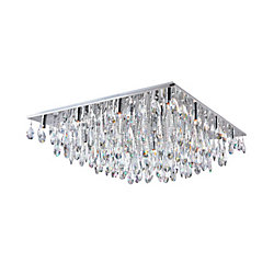 CWI Lighting Bianca 32 inch 20 Light Flush Mount with Chrome Finish