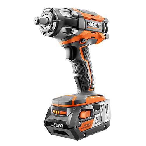 18V GEN5X Cordless Brushless 1/2-Inch Impact Wrench with Belt Clip & 4.0Ah Battery