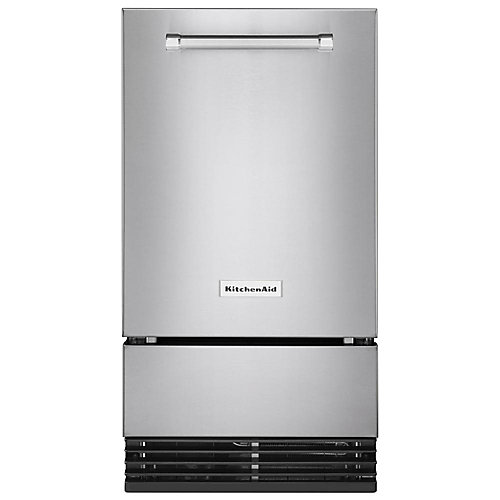 18-inch Automatic 35 lb. Ice Maker in PrintShield Stainless Steel