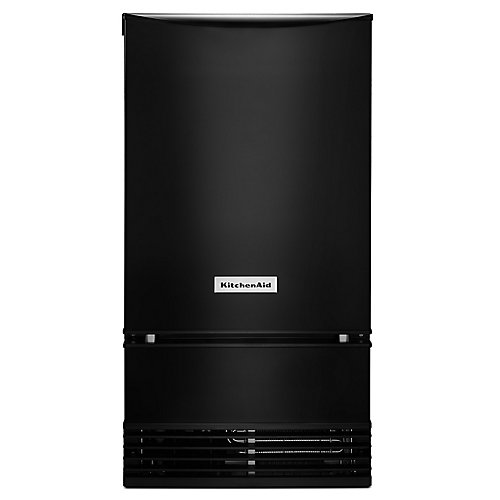 18-inch Automatic 35 lb. Ice Maker in Black