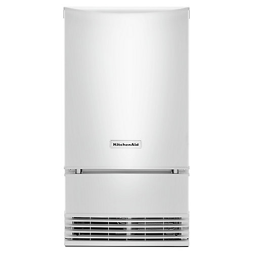 18-inch Automatic 35 lb. Ice Maker in White