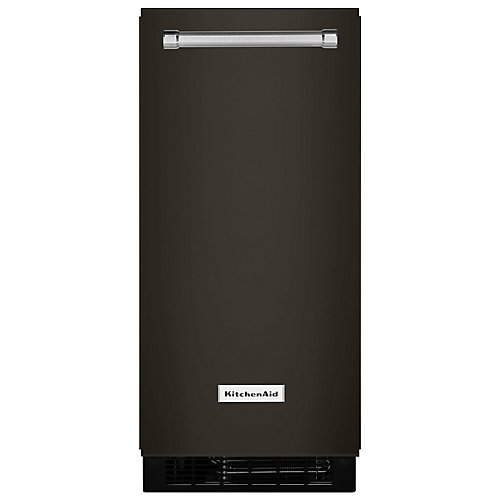 15-inch Automatic 25 lb. Ice Maker in PrintShield Black Stainless Steel