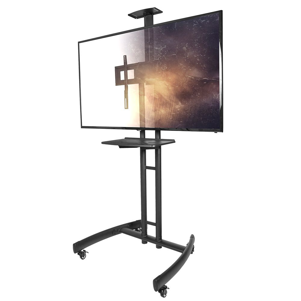 Kanto MTM55PL-S Mobile TV Mount with Adjustable Steel Tray for 32-inch to 55-inch TVs