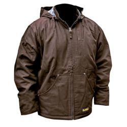 DEWALT Manteau de travail chauffant pour travaux lourds avec batterie 20 V maxi, chargeur et adaptateur