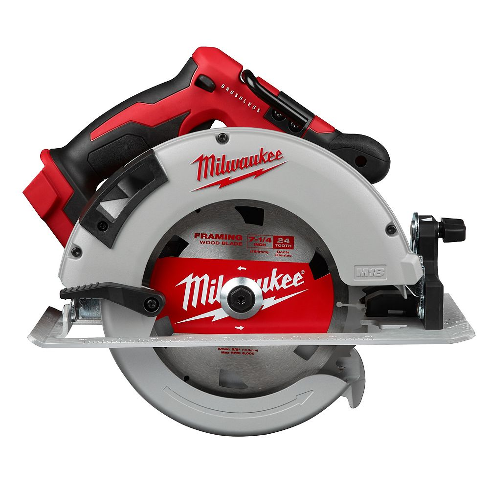 Milwaukee Tool M18 18V Lithium-Ion Brushless Cordless 7-1/4 -inch Circular Saw (Tool Only)