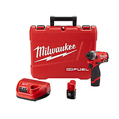 M12 FUEL 12V Li-Ion Brushless Cordless 1/4-inch Hex Impact Driver Kit with (2) 2.0Ah Batteries