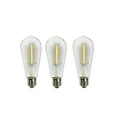 Ampoules ST19 4.5W E26 2700K 60W intensité variable transparentes blanc doux QP