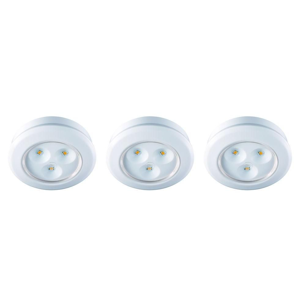 Commercial Electric 3-Light LED Puck Light Kit