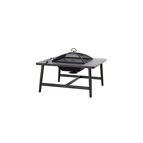Crestwick Wood Burning Fire Pit Table