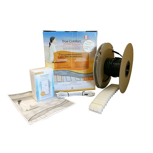 True Comfort Electric Underfloor Heating Kit -  120V - Covers 10 sq. ft.