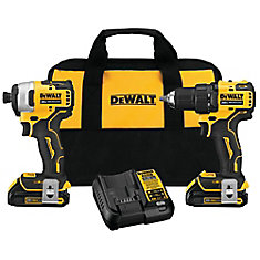 ATOMIC 20V MAX Li-Ion Brushless Cordless Compact Drill/Impact Combo Kit (2-Tool), (2) Batteries 1.3Ah & Charger