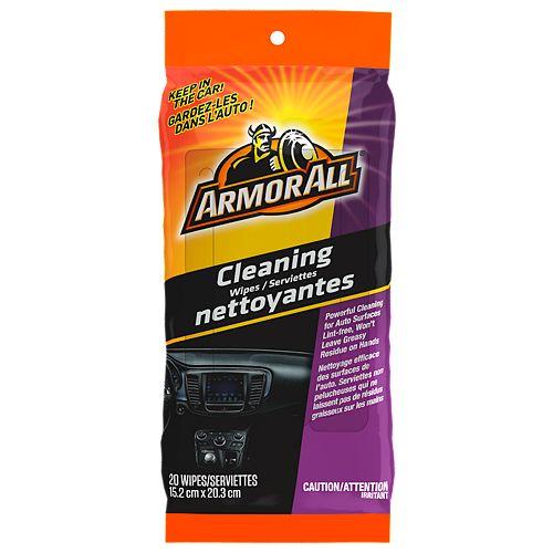 Armor All Serviettes Nettoyantes, format de poche 6/20 ct