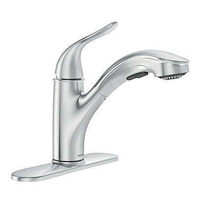 Moen Brecklyn Single Handle Pull Out Sprayer Kitchen Faucet With