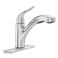Brecklyn Single-Handle Pull-Out Sprayer Kitchen Faucet with Power Clean in Chrome