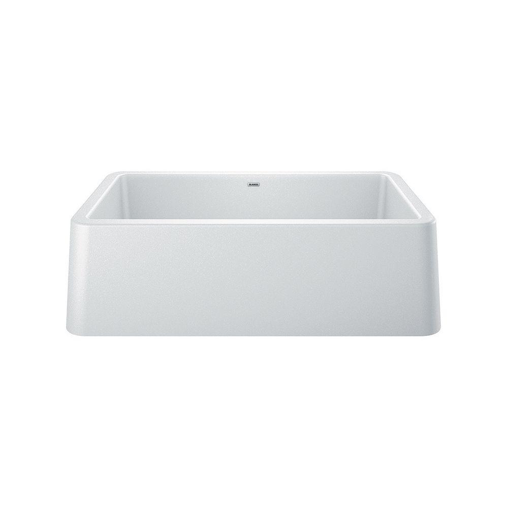 Blanco IKON 33 Apron Front Undermount Kitchen Sink, Single Bowl - White SILGRANIT Granite Composite