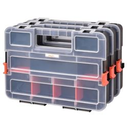 HDX Interlocking Small Parts Organizer with Adjustable Compartments (3-Pack)
