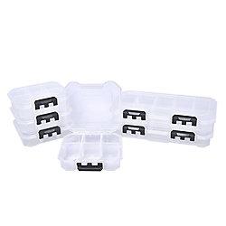 HUSKY Bacs de rangement de pièces à 13 compartiments et 8 compartiments, ens. de 6