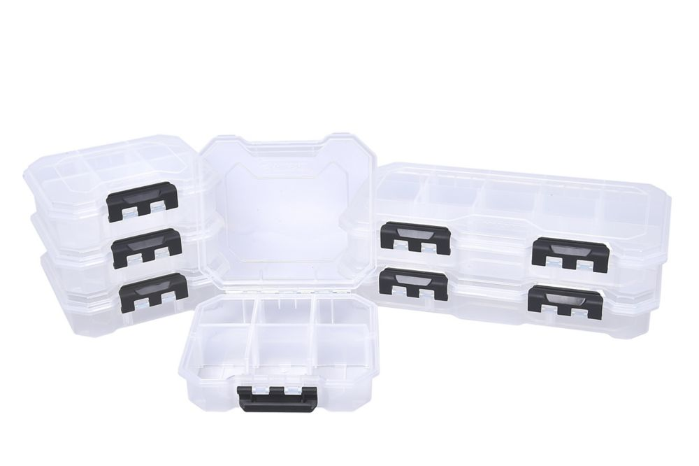 HUSKY 13-Compartment and 6-Compartment Small Parts Organizers (Set of 6)