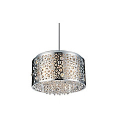 Bubbles 16 inch 6 Light Chandelier with Chrome Finish