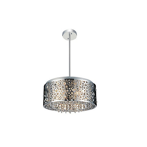 Bubbles 20 inch 7 Light Chandelier with Chrome Finish