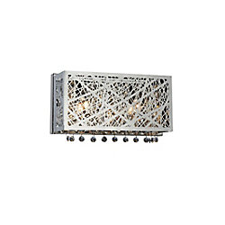 Eternity 12 inch 2 Light Wall Sconce with Chrome Finish