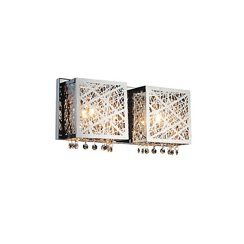 Eternity 16 inch 2 Light Wall Sconce with Chrome Finish