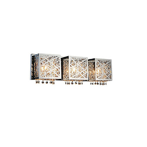 Eternity 23 inch 3 Light Wall Sconce with Chrome Finish