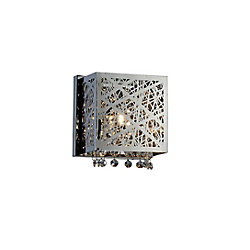Eternity 8 inch 1 Light Wall Sconce with Chrome Finish